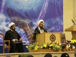 Delivering speech to some Shia Muslim students from Canada, England and the USA